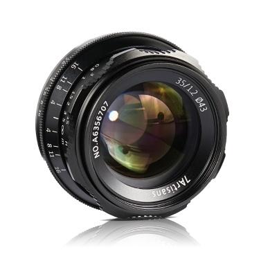 7artisans 35mm F1.2 Manueller Fokusobjektiv Große Blende APS-C für E-Mount-Kameras von Sony A7 / A7II / A7R / A7RII / A7S / A7SII / A6500 / A6500