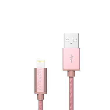 dodocool MFi Certified 10ft / 3m Braided Lightning USB Charge Sync Cable iPhone 7 Plus / 7 / SE / 6s Plus / 6s / 6 Plus / 6 / 5 / 5s / 5c / iPad Air 1/2 / iPad Pro / iPad mini 1/2/3/4 / iPod touch 5th gen / nano 7th gen Rose Gold