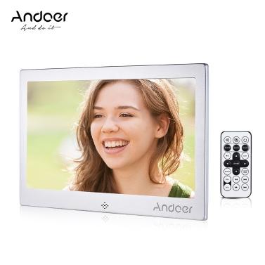 """47% OFF Andoer 10"""" LED Digital Photo Frame,limited offer $49.99"""