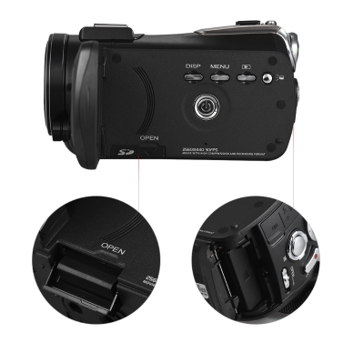 Andoer AC3 4K UHD 24MP Digital Videokamera Camcorder Recorder