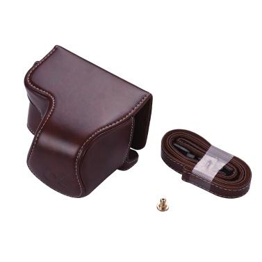 PU Leder Kameratasche mit Kamera Schultergurt für Sony Alpha A6300 A6000