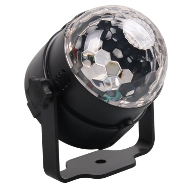 Sound Active Mini RGB LED Kristall Magic Ball Effekt Bühnenbeleuchtung