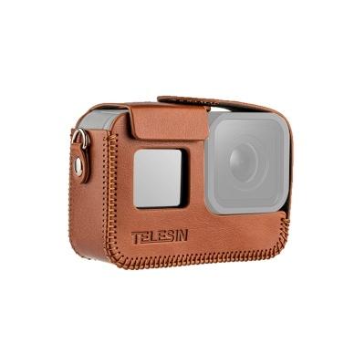 TELESIN Kamera Schutzhülle Shell Cover PU Leder Kompatibel mit GoPro Hero 8 Action Kamera