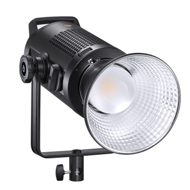 Godox Studio LED Video Light Zoomable Photography Light 200W Bi-color 2800-6500K Dimmable Brightness with Bowens Mount Reflector for Studio Photography Live Streaming