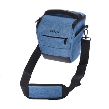 Andoer Tragbare DSLR-Kamera-Schulter-Beutel Sleek Polyester-Kameratasche für 1 Kamera 1 Objektiv und Klein Zubehör für Canon Nikon Sony Fujifilm Olympus Panasonic