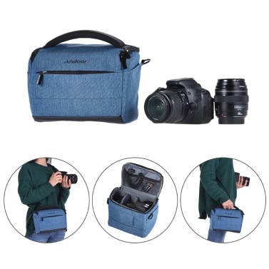 Andoer Bag Portable Fashion DSLR Camera for 1 Camera 2 Lenses and Small Accessories