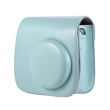 Andoer PU Instant Camera Case Bag with Strap for Fujifilm Instax Mini 9/8/8+/8s Smokey White