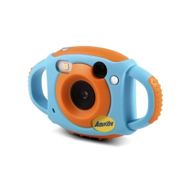 Amkov Cute Digital Video Camera Max. 5 Mega Pixels Built-in Lithium Battery Christmas Gift New Year Present for Kids Children Boys Girls