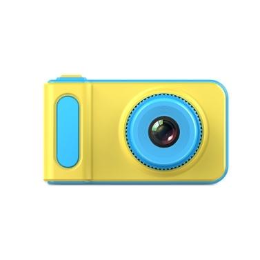Mini reizende Kinder-Digitalvideokamera 2,0 Zoll-Anzeige eingebaute Lithium-Batterie mit Karikatur-Aufkleber-Geburtstags-Festival-Geschenk-Beginn-Tagesgeschenk für Kinder Jungen Mädchen