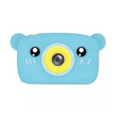 1080P/30FPS Mini Kids Camera 2.0 Inch Big IPS Display Screen Cute Cartoon Animal Appearance Camera with for Children Boys Girls