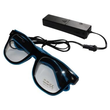 YJ001 Sprachsteuerung LED Brille 10 Farben Optionales Licht