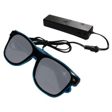 YJ002 Sprachsteuerung LED Brille 10 Farben Optionales Licht
