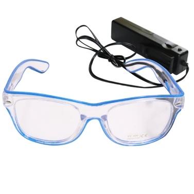 YJ004 Sprachsteuerung LED Brille 10 Farben Optionales Licht