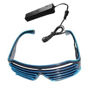 YJ005 Sprachsteuerung LED Brille 10 Farben Optionales Licht