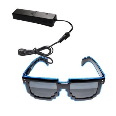 YJ007 Sprachsteuerung LED Brille 10 Farben Optionales Licht
