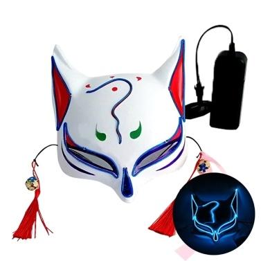 10 Farbe Fox Half Face Mask Neonlichter