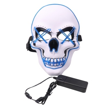 Halloween Party Maske LED gruselige Blitzmaske
