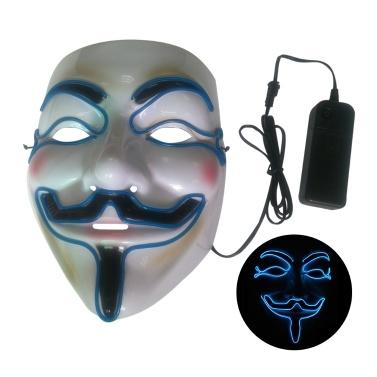 Halloween Party Maske LED gruselige Blitzmaske