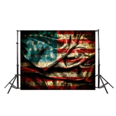 Flagge Backsteinmauer Fotografie Hintergrund