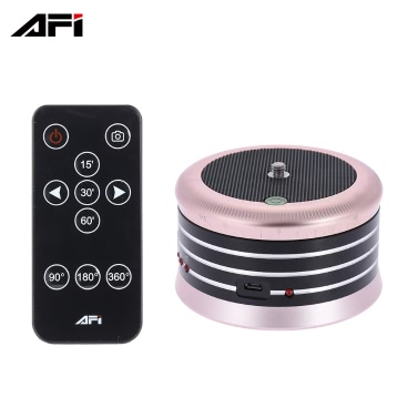 AFI MRA01 Professional 360° Metal Electric Panorama Ball Head with Remote Control for GoPro Action Camera Smartphone Pocket Camera Micro SLR Camera Digital Camera