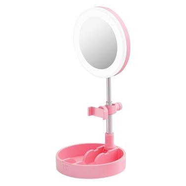 Portable LED Ring Light Foldable Desk Circle Lamp Dimmable Fill Light