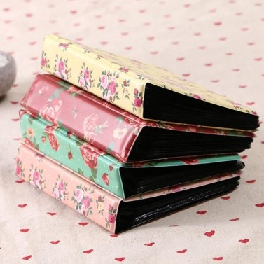 Standard 3in Centerfold Fotoalbum PU 64 Taschen Alben Fotos Aufbewahrungskoffer Floral Memory Souvenir
