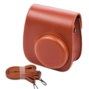 Tragbare Instant-Kameratasche Taschenhalter PU-Leder