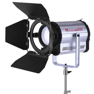 CLL-1600TDX 160W Bi-Color 3000K-8000K Fotostudio LED Scheinwerfer Fotografie Studio-Videoleuchte mit Scheunentor CRI95 + DMX 512-System FalconEyes