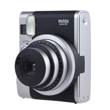 Fujifilm Instax Mini 90 Neo Classic Instant Kamera Foto Film Cam mit LCD Bildschirm Unterstützung Makro Fotografie Double Exposure B Shutter Timed Selfie w / Flash 2 Shutter