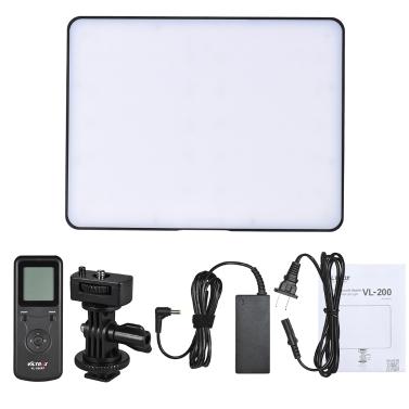Viltrox VL-200 Drahtlose Steuerung Bi-color Dimmbare LED Videoleuchte Panel 3300K-5600K 192 Perlen CRI95 LCD-Bildschirm für Canon Nikon Sony DSLR Kamera