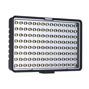 Travor TL-120 Professionelle Mono-Farbtemperatur Dimmbare LED Video Licht Fotografie Fülllicht 8-Level Einstellbare Helligkeit 700 Lumen CRI 85+ mit 2 Farbfilter für Canon Nikon Sony DSLR Kamera Camcorder