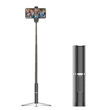 携帯電話のための多機能ワイヤレスBT Selfieスティック折りたたみ式ハンドヘルド一脚シャッターリモート携帯電話用の拡張可能なミニ三脚