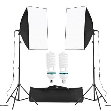 Professional Studio Photography Cube Umbrella Softbox Light Kit