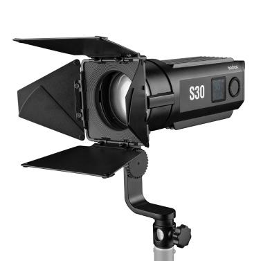 Godox S30 30W Fokussierender LED-Strahler Einstellbare Helligkeit 5600K CRI 96