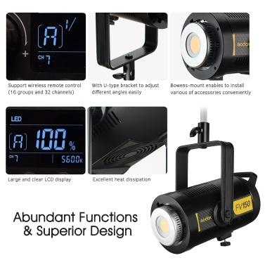 Godox FV150 1/8000s High Speed Sync Flash LED Light