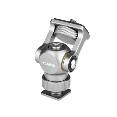 YELANGU Video Monitor Mount Mini LED Light Bracket Holder Ballhead Aluminum Alloy