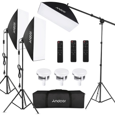 Andoer Studio Photography Light Kit Softbox Lighting Set