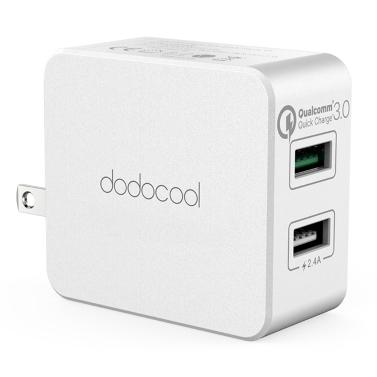 Chargeur mural double USB dodocool 30W avec adaptateur de charge rapide 3.0Power