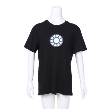 Iron Man multifuncional sem fio T-shirt LED Flash ativado por voz para festa Rock Disco Night Club