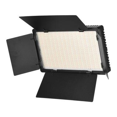Andoer LED-600 LED-Videoleuchte Professionelles Fotografie-Lichtpanel