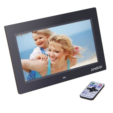"Andoer 10 ""HD TFT-LCD 1024 * 600 Digitaler Bilderrahmen Album Uhr MP3 MP4 Movie Player mit Fernbedienung"