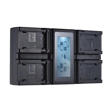 Andoer NP-FZ100 4-Kanal-LCD-Digitalkamera Akku-Ladegerät für Sony A7III A9 A7RIII A7SIII