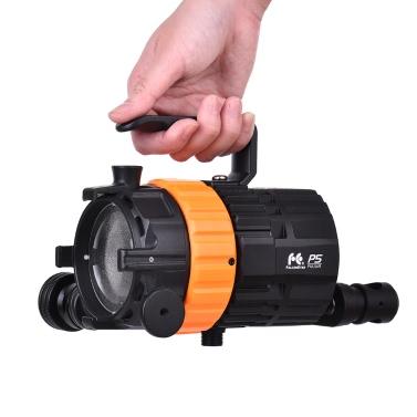 FalconEyes Pulsar5 50W 5600K Mini LED Scheinwerfer fokussierbar dimmbar Lüfterlos mit 4-Blatt Scheune Tür / Getrennte Steuerung / Tasche