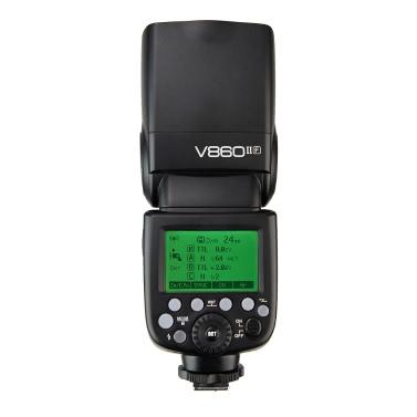 Godox VING V860IIF Pioneering TTL Li-ion Camera Flash 2.4G Wireless X System 1/8000s HSS GN60 Master & Slave Flash with 2000mAh Li-ion Battery for Fuji X-Pro2 X-T20 X-T2 X-T1 X-Pro1 X-T10 X-E2 X-A3 X100F X100T Series Cameras