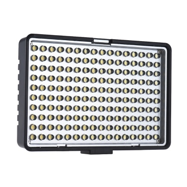 Travor TL-160 Professional Mono-Color Temperature Dimmable LED Video Light Photography Fill Light 8-Level Adjustable Brightness 950 Lumens CRI 85+ with 2 Color Filters for Canon Nikon Sony DSLR Camera Camcorder