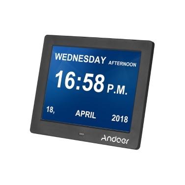 Andoer 8 Inch Digital Alarm & Photo Frame