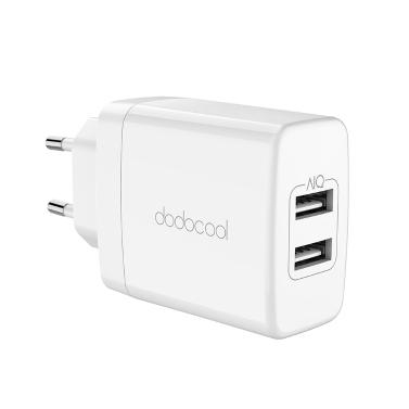 Dodocool 24W 2-portowa ładowarka ścienna USB Travel Power Adapter ze składaną wtyczką
