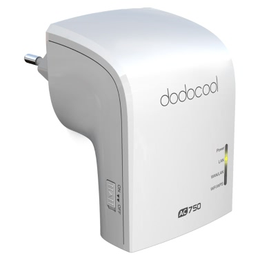 Dodocool AC750 Dual Band Wireless Wi-Fi-AP / Repeater / Router simultan 2.4GHz 300Mbps und 5GHz 433Mbps EU-Stecker