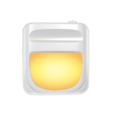 Nachtlicht Sockellicht LED-Licht Stufenlos dimmbarer Lichtsensor Automatisches Energiesparatmosphärenlicht