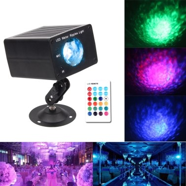 Water Ripples Light LED Stage Party Light Water Wave Strobe Lights for Party Home Karaoke Wedding Club Bar Disco DJ